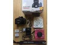 CANON EOS 700D with 18-55mm lens + EXTRAS