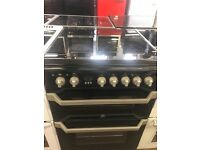 60CM BLACK INDESIT ELECTRIC COOKER