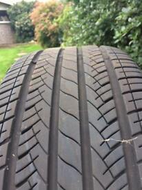 2 Tyres Nearly new. 6mm+ 225/40/zr18-off golf gti