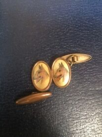 Vintage Cufflinks with image of a Dog