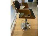 Bar stool/Kitchen stool. Wooden & Leather with adjustable seat height £100 ono