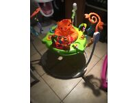 For sale Jumperoo walker/rocker mamas and papas snug an activity tray