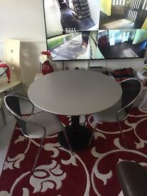 Glass dining tables & 2 chairs good condition only £70 for both