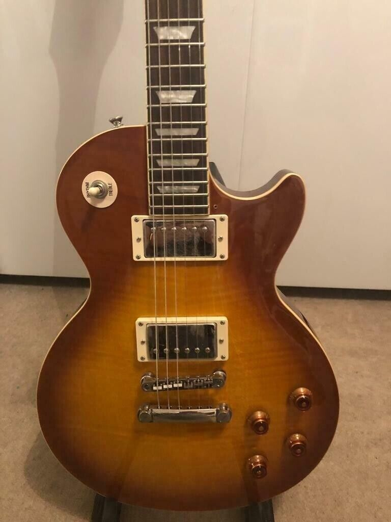 Like NEW ** Epiphone Les Paul Standard PlusTop Pro with gig bag  | in  Glasgow | Gumtree