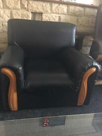 Single leather arm chair