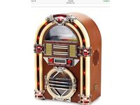 Jukebox cd/radio/MP3 back player , real wood , lights up colours