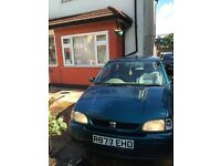 1997 Seat Arosa 1.4 3dr starts and drives no MOT £110