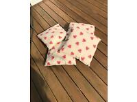4 strawberry cushions