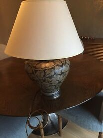 Beautiful table lamp and shade