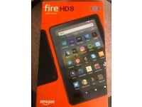 Never been used still in box Amazon fire HD8 with Alexa 10th generation 2020
