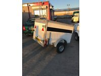 Small box trailer with large rear door