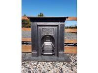 102 - Cast Iron Fireplace Surround arched Antique Victorian Style Fire Original