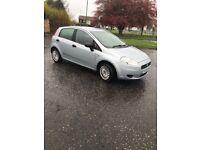 Fiat Punto 1.2 cheapest 5 door car with Low mileage plus full year MOT