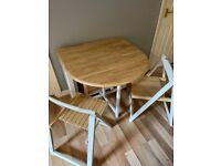 John Lewis Folding table and 4 chairs.