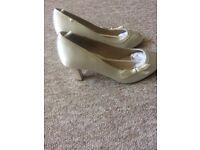 Debenhams Ivory Wedding Shoes size 5
