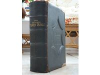 National Family Bible with Brass Clasps and Stunning Beautiful Illustrations.