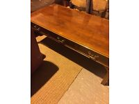retro style coffee table six drawers