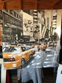 NYC canvas painting