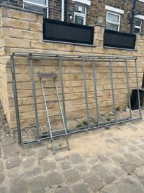 Roof rack and back door ladder