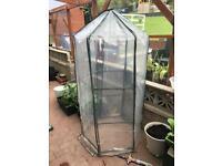 Plastic hexagonal greenhouse