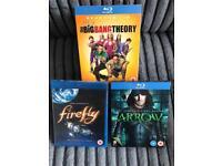 Blu-ray TV Series - Big Bang Theory, Arrow and Firefly