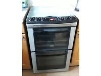Zanussi free standing double gas oven