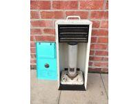 Aladdin Paraffin Heater Aladdinette 2 single wick burner Good , Clean Condition