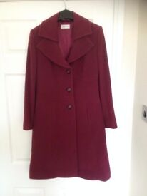 Full length MINUET PETITE COAT size 8 only worn once, purchased from House of Fraser.