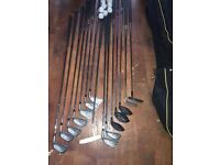 Full set of clubs bag trolley and shoes