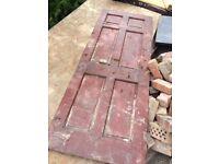 Internal hardwood doors x 3
