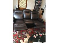Lazy Boy 3 Seater Recliner Sofa in Brown As Good As New