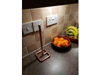 Copper Pipe Kitchen Roll Holder - Modern/Industrial Look Made From Fittings