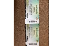 2 x Green Day Tickets BST Festival Hyde Park 1st July - PRIORITY ENTRY