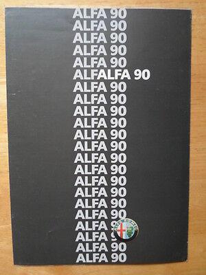 ALFA ROMEO 90 range 1986 UK Market brochure