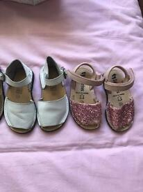 Girls shoes all Spanish designer leather size 22