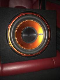 12 inch Edge subwoofer with built in amp - 900 watts