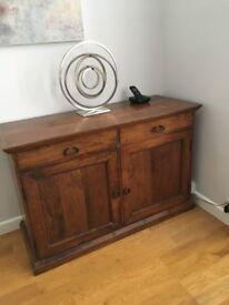 solid wood sideboard, john lewis, indian wood
