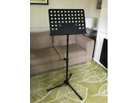 Music stand. Sturdy and collapsible.