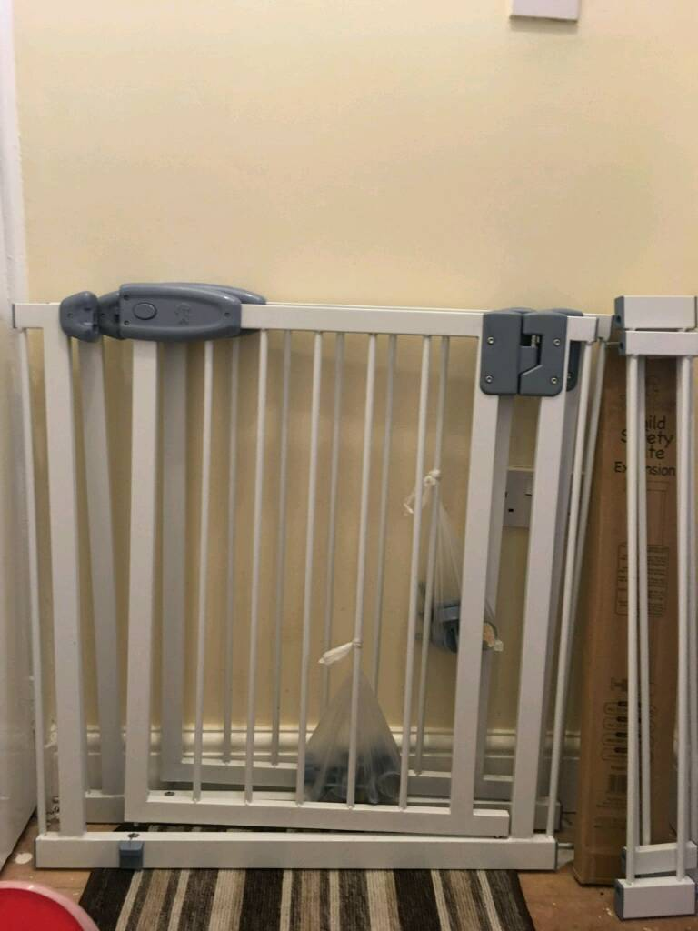 Deluxe Safety gates for top and bottom of stairs.