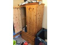 Pine Wood Wardrobe Drawer storage