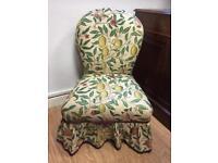 Victorian nursing chair oak turned legs