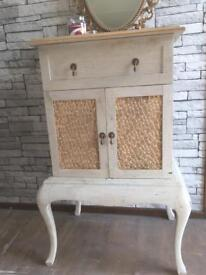 Vintage quirky upcycled French style cupboard/chest