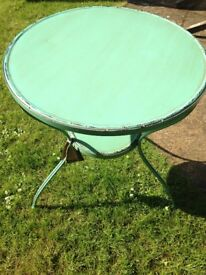 French Cafe Style Metal Table - Green