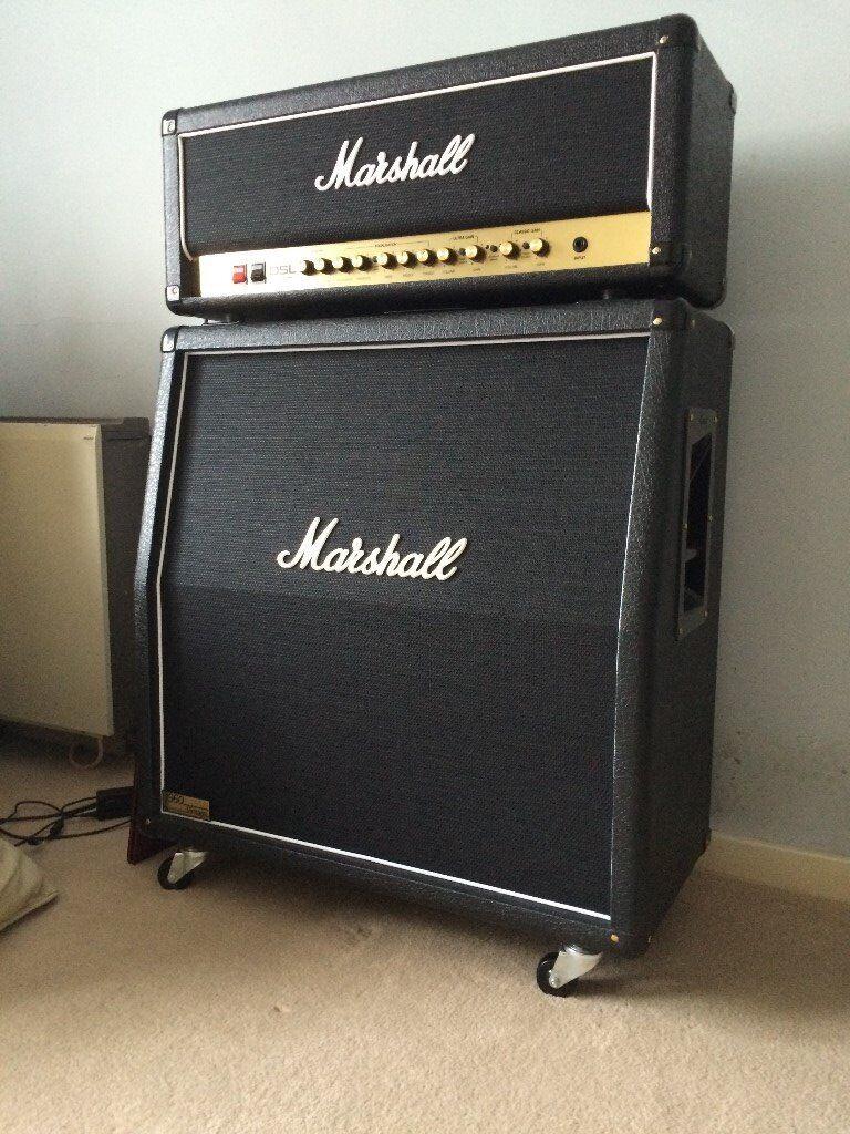 Marshall DSL 100H and Marshall 1960AV 4X12 speaker cabinet for sale - Marshall DSL 100H And Marshall 1960AV 4X12 Speaker Cabinet For