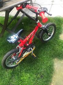 Boys pirate bike 14 inch wheels