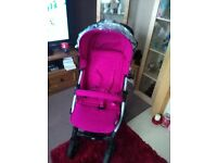 Mamas and papas Pink luna pushchair