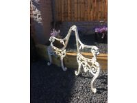Old Set Of Lions Head Garden Bench Ends- can deliver