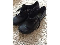 Black clarks ladies shoes size5.5