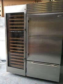 Brand New Sub Zero Wine Fridge Stainless Steel front full glass gaggenau Wolf appliance