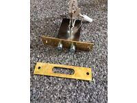 Brass Door Lock with 3 keys